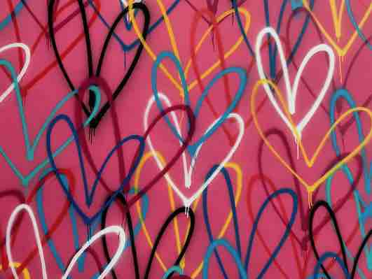 pink graffiti hearts